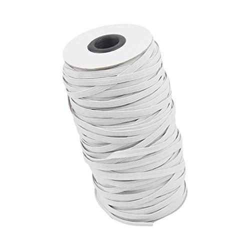 3mm / 10mm / 6mm Elastische band Naaien Elastische Band Platte Elastische Oor Bands voor DIY Oor Haken, handwerk, spreien, manchetten Lengte 90m, Wit/Zwart 6mm*90m Kleur: wit