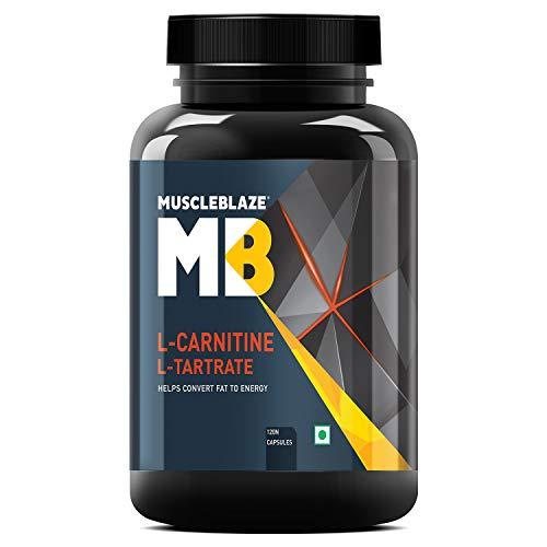 MuscleBlaze L-Carnitine L-Tartrate, (120 Tablets)