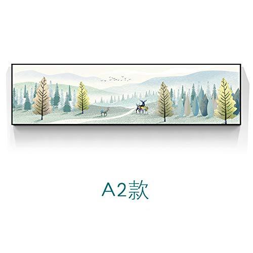 WSNDGWS Pintura Decorativa de Estilo nórdico Elk Moderno Minimalista Sofá Fondo Pintura de Pared Dormitorio Banner Sin Marco A3 35x120cm