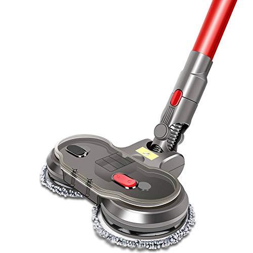 Ancocs 2 in 1 Elektrischer Mopkopfaufsatz für Dyson, Brush Head Moppbürstenkopf für Dyson-Staubsauger V7 V8 V10 V11, Bodenwerkzeug mit waschbarem Lappen für Hartboden Holzboden