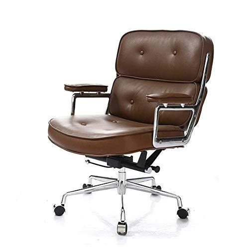 WZC Sedia da ufficio sedia in pelle sedia, sedia direzionale sedia per computer sedia girevole per casa ampia seduta comoda con braccioli sedie direzionali girevole a 360 gradi alte