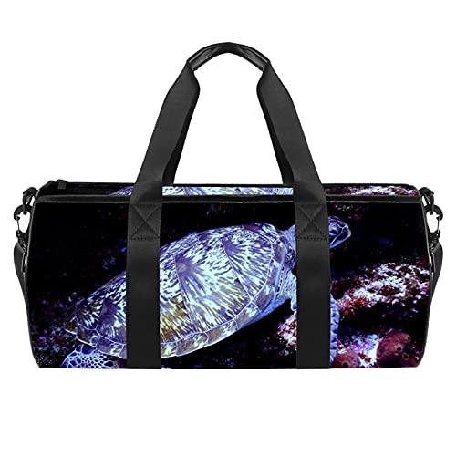 Animal Tortoise Gym Bag para hombres y mujeres Bolsas de fin de semana Deportes Viaje Duffel Bolsa con bolsillo impermeable