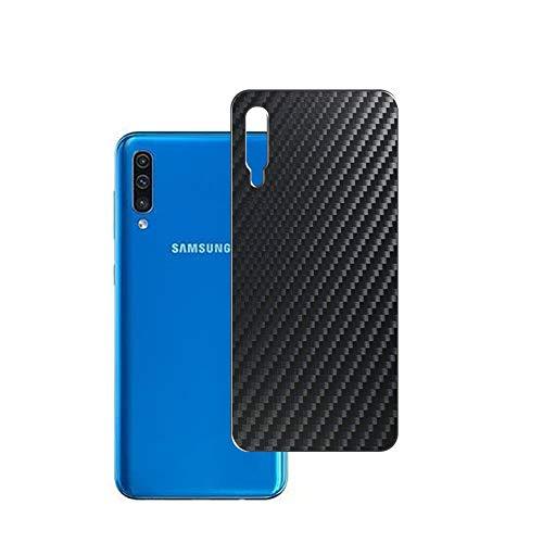 Vaxson 2 Unidades Protector de pantalla Posterior, compatible con Samsung Galaxy A505 A50, Película Protectora Espalda Skin Cover - Fibra de Carbono Negro