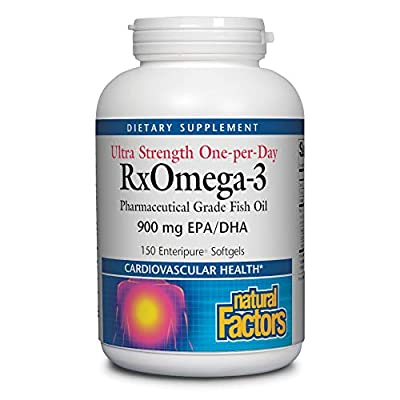 Natural Factors, Ultra Strength RxOmega-3 Fish Oil, DHA and EPA, 150 softgels (150 servings)