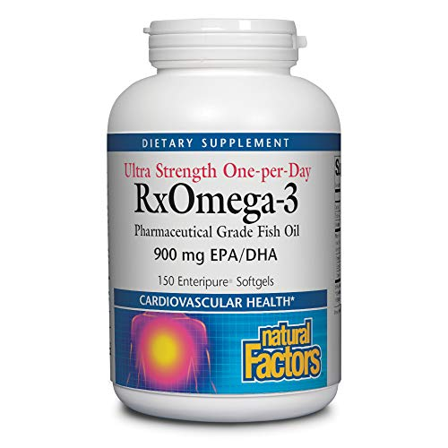 Natural Factors, Ultra Strength RxOmega-3 Fish Oil, DHA and EPA, 150 softgels (150 servings)
