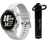 Coros APEX Premium Multisport Watch with Wearable4U Compact Power Bank Bundle (42mm, White/Sliver)