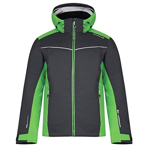 Dare 2b Herren Skijacke Vigour atmungsaktiv wasserdicht Isolierte Jacke 3XL Ebony Grey/Fairway Green