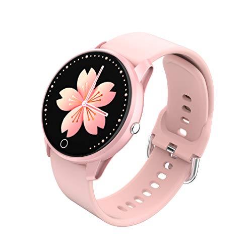 BIGCHINAMALL Relojes Inteligentes Pulsera Actividad Smartwatch Mujer (Rosado)
