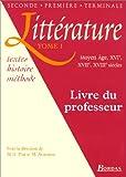 Littérature, tome 1 - Livre du professeur
