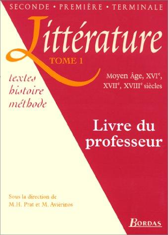 Littérature, tome 1