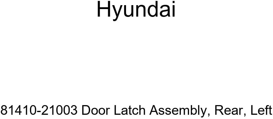 Limited price sale Genuine Hyundai 81410-21003 excellence Rear Latch Assembly Door Left-Hand