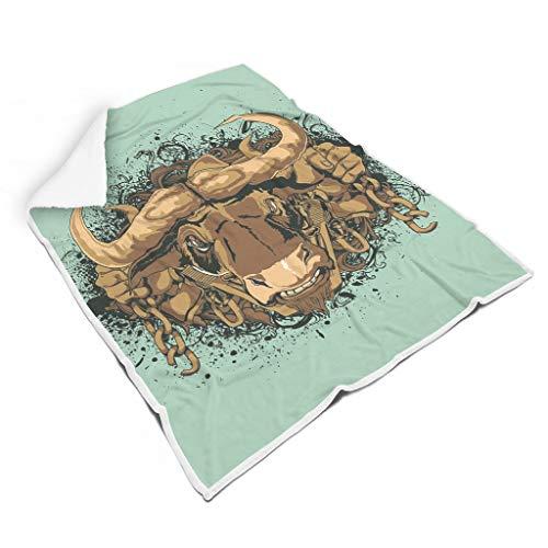 TengmiuXin Muster Europäisches Muster schick Verschiedene Muster Fleece Decke für Couch-Schlafsofa Herbst Winter Frühling für Baby Familienstil White 130x150cm