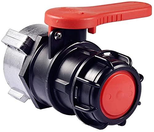 OrangeClub IBC Adapter Tank Ventil Schlaucharmaturen Ablaufadapter Anschlussteile Garten Wasserhahn Auslass Schlauchverschraubung Regentonnenschlauch DN50 (75mm)