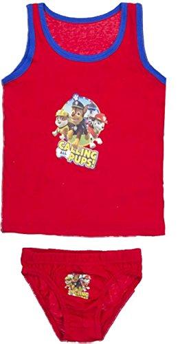 Nickelodeon Paw Patrol Kids Ondergoed Set (6/8 Jaar, Rood)