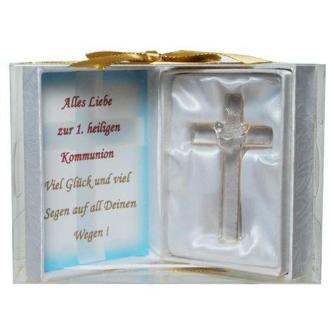 Geschenkset Glas Kreuz Zur 1.heiligen Kommunion