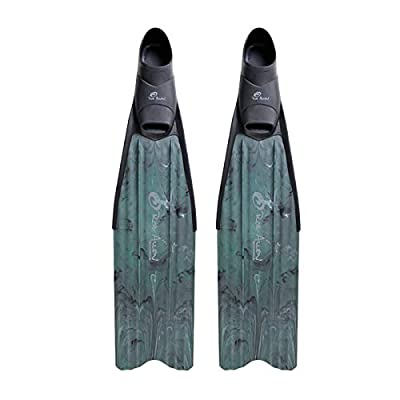 ROB ALLEN SCORPIA FREEDIVING FINS PLASTIC LONG BLADE SPEARFISHING FINS (Large (10-11))