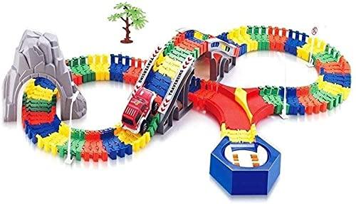 Sistema de pistas Bloques de construcción Tren juguetes para niños Juguetes Puzzle de plástico Mejor regalo Slot Cars Pistas de carreras y accesorios Regalos de cumpleaños para niños Regalos para niño