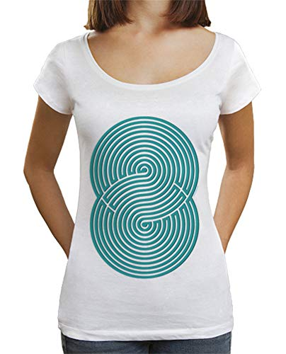 - Camiseta Juegos - Laberinto - Brain Game para Mujer Blanco S