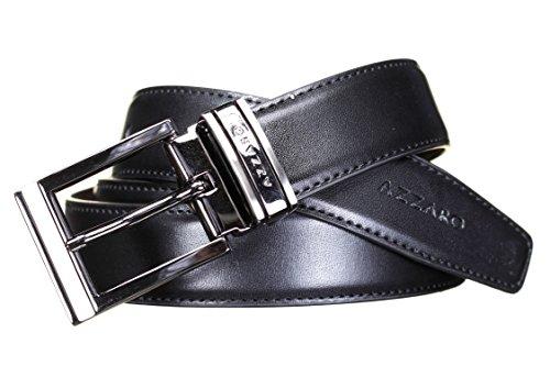 AZZARO - Ceinture 21238 Reversible Noir/Marron - Couleur Noir - Taille Ajustable