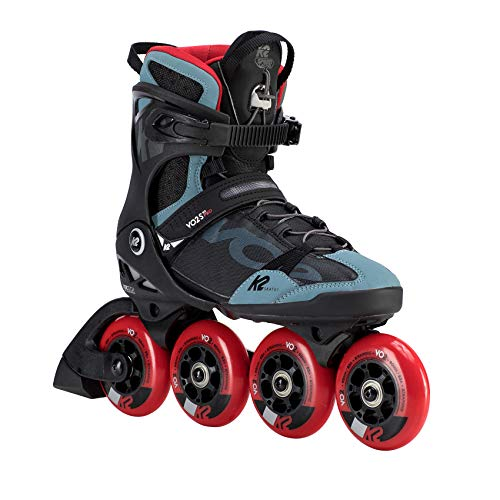 K2 Skates Herren VO2 S 90 PRO M Inline Skates, black-grey-red, 46 EU (11 UK)