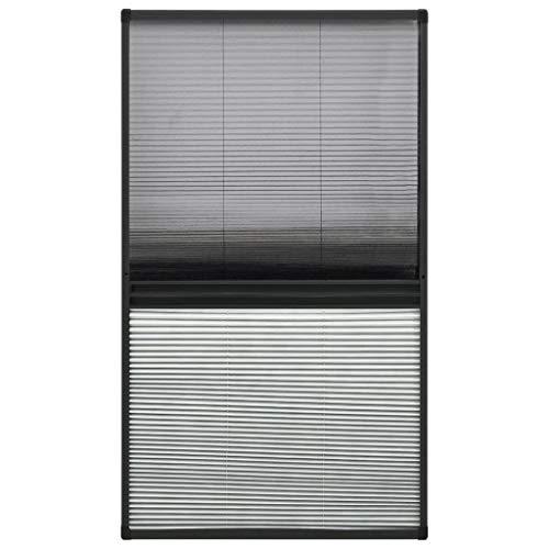 vidaXL Insektenschutz Plissee für Fenster Dachfenster Fliegengitter Mückenschutz Sonnenschutz Sichtschutz Aluminium 60x160cm mit Jalousie