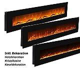 Elektrokamin Glow Fire Mars XL, 182 cm breit, Wandkamin elektrisch (1500 Watt Heizlüfter, Farbige LED-Beleuchtung; Glasscheibe, Dimmer, Fernbedienung) - 4