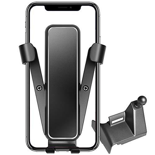 Soporte para teléfono de coche para Tesla Modelo 3, KFZMAN Modelo 3, soporte de teléfono izquierdo con junta ajustable de 360 grados, ajuste personalizado con Tesla Model 3