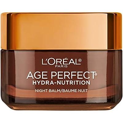 L'Oreal Paris Skincare Age Perfect Hydra Nutrition Ultra Nourishing Honey Night Balm, Face Moisturizer to Comfort, Improve Resilience on Dry Skin, Manuka Honey and Nurturing Oils, 1.7 oz. from L'Oreal Paris