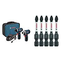 Bosch CLPK27-120 12-Volt Max Lithium-Ion 2-Tool Combo Kit (Drill/Driver and Impact Driver) with 2 Batteries, Charger and Case by Bosch