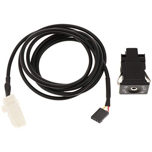 IPOTCH Interruptor de Enchufe USB AUX para Coche Inpu + Cable AUX para 2 3 5 6