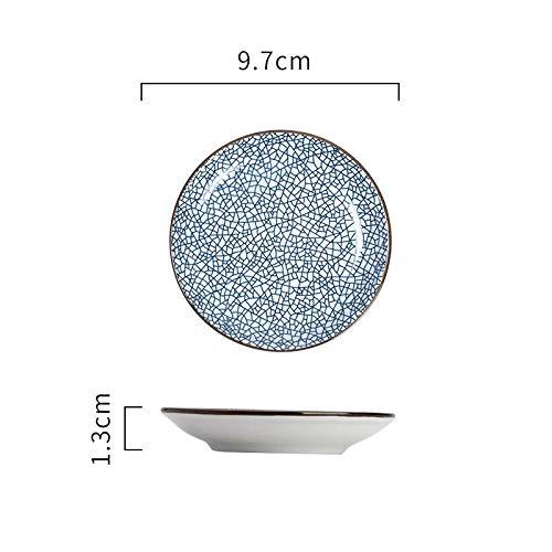FaucetKAI Geschirr Keramische runde Platte Gourmet-Platte Flache Platte Kuchen Dessertteller Obstteller