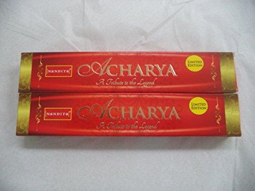 Nandita Acharya Bâtonnets d'encens naturels biologiques Lot de 2 boîtes de 15 g