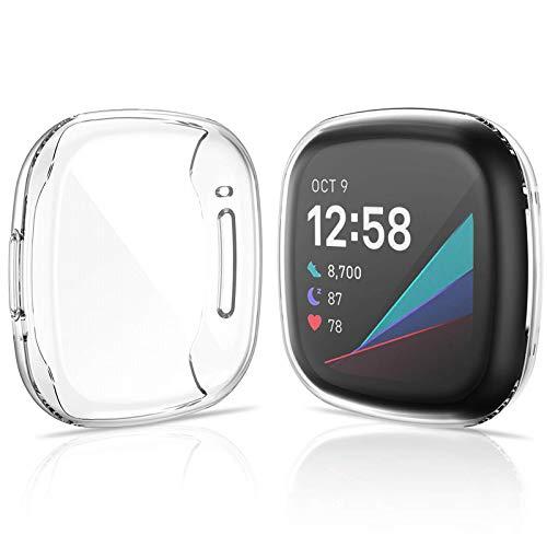 KIMILAR Pellicola Protettiva compatibile con Fitbit Sense/Fitbit Versa 3 (Non per VERSA 2 / VERSA/VERSA LITE), (2 Pezzi) Protezione Schermo Custodia compatibile con Fitbit Versa 3 / Fitbit Sense