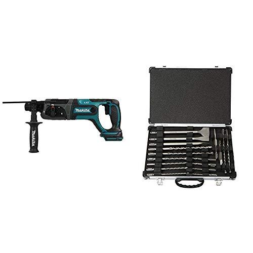 Makita DHR241Z Juego de herramientas eléctricas 1 W, 18 V + Makita D-42444 - Set de brocas y cinceles SDS-Plus