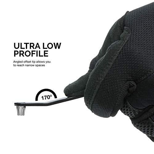 NEIKO 01323A Ultra Low Profile Offset Screwdriver Set, 5Piece | Heavy Duty S2 Steel Construction