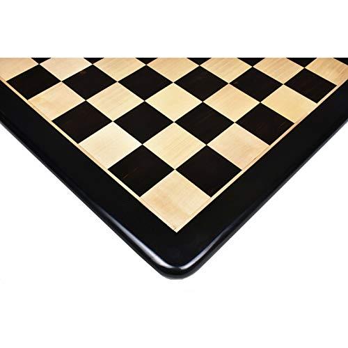 RoyalChessMall - Tablero de ajedrez Grande de Madera Maciza de ébano con Incrustaciones de 21 Pulgadas - Cuadrado de 55 mm