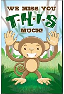 Postcards - Attendance - Miss You - All Ages - We Miss you T-H-I-S much! (Pkg. of 25) ...