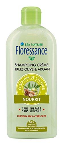 Floressance par nature Capillaire Comptoir de L'olivier Sampooing Crème Huiles D'olive et Argan, Nourrit 500 ml