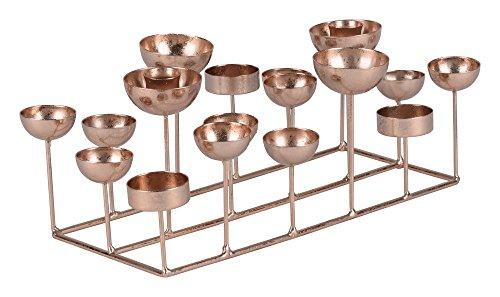 Gift Company - Kerzenhalter Medusa S - rechteckig - roségold - Metall - 33,5x12x18 cm