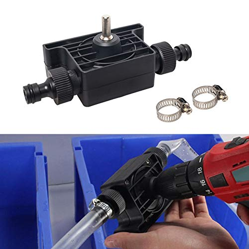 Drill Water Pump,Large Flow Oil Pump, Water Pump for Home Garden, Mini Water Pump Portable Self-priming Electric Drill Pump, Electric Drill Powered Pump with Water Hose Quick Connectors for Fish Tank