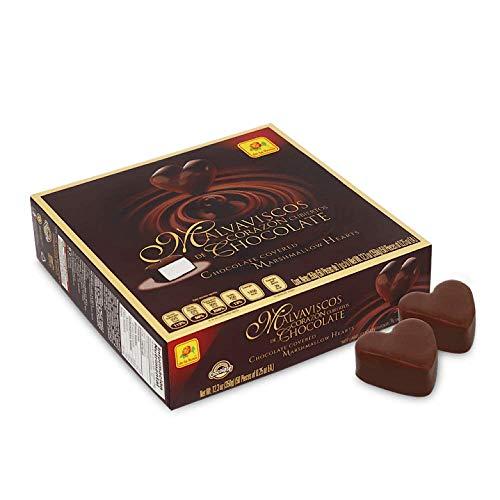 DE LA ROSA CHOCOLATE COVERED MARSHMALLOW HEARTS 50 CT