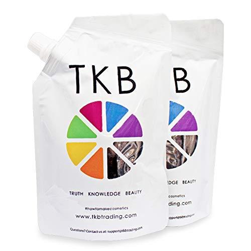 TKB Lip Gloss Base | Clear Versagel Base for DIY Lip Gloss, Moisturizing, Non-Sticky, Vegan, Made in USA(5.5oz (2 pack))