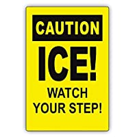 氷あなたのステップ凍結危険危険危険警告通知錫金属徴候
