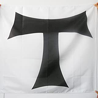 AZ FLAG Order of Hospitallers of St. Anthony Flag 3' x 3' for a Pole - Saint Anthony Flags 90 x 90 cm - Banner 3x3 ft with Hole