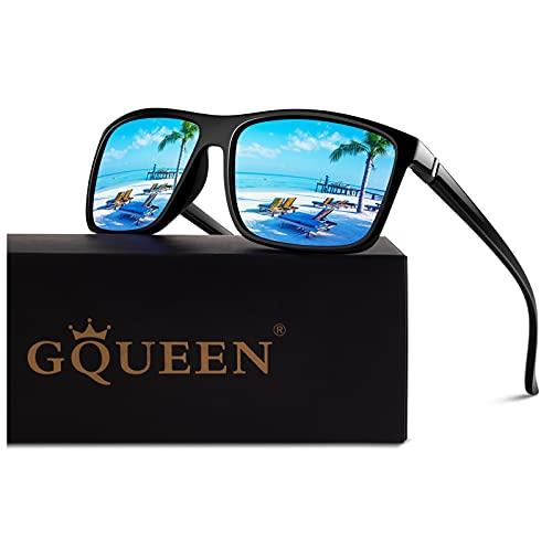 GQUEEN Retro Polarisierte Sonnenbrille Herren Damen Fahren Angeln