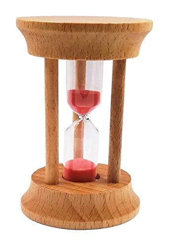 Jszzz Kinder-Sand-Timer Uhr aus Holz Sanduhr Eieruhr 3 Minute Glas Sanduhr-Spielzeug for Jungen-Mädchen-Küche Home Office