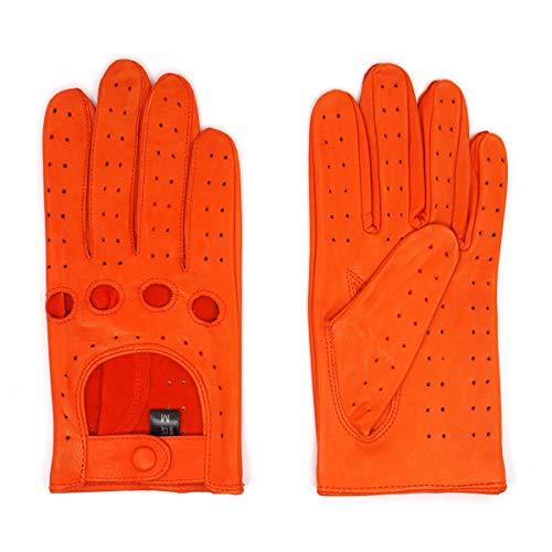 Harssidanzar Damen Lederhandschuhe Ungefüttert Upgrade GL009,Jacinth,Size L