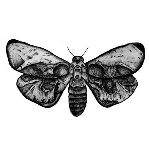 EROSPA® Tattoo-Bogen / Sticker temporär - Motte / Moth / Schmetterling