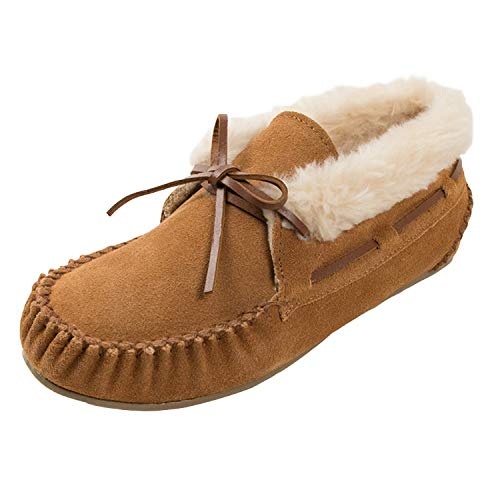 Minnetonka Women's Chrissy Slipper (7.5 B(M) US, Cinnamon)
