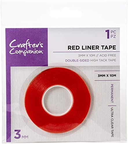 Crafter s Companion Red Liner Tape 125 X11yds Clear product image